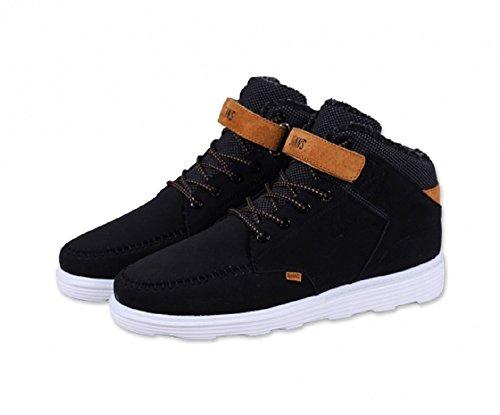 Djinns - Zapatillas de Piel para hombre Black (Schwarz)