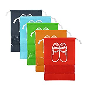 Zmart Portable Travel Shoe Bags Multicolor Storage Organizer Bag (5 Medium Colors)