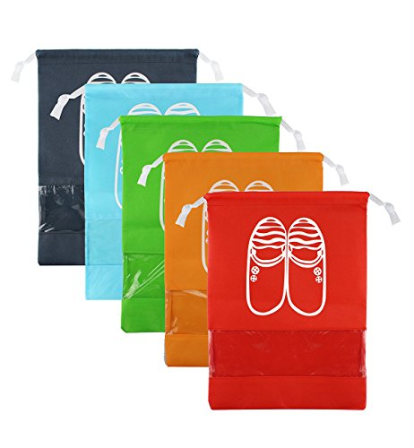 Zmart Portable Shoe Bags for Travel 5 pcs Waterproof Traveling Shoe Storage Organizer Packing Bags for Women Men from Zmart
