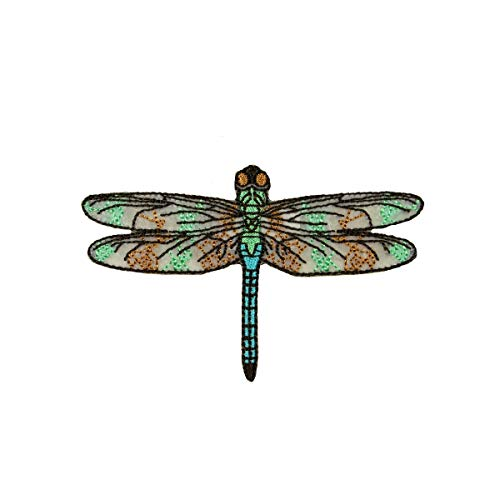 ID #1688 Dragonfly Damselfly Insect Bug Embroidered Iron On Applique Patch