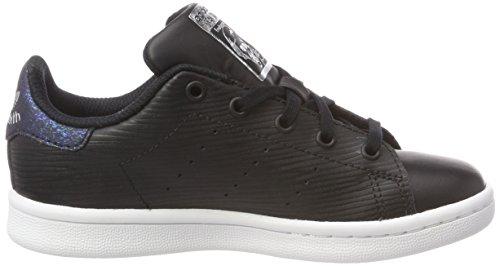 adidas Stan Smith J, Zapatillas de Deporte Unisex Niños Negro (Negbás / Negbás / Plamet 000)