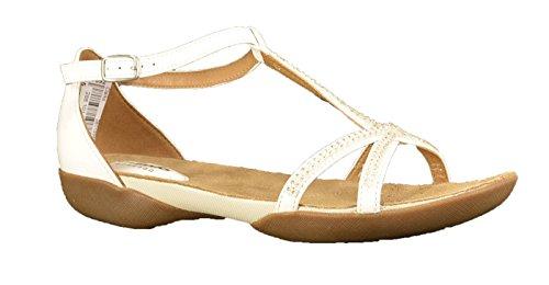 Clarks Raffi Star, Women's Wedge Heels Sandals White