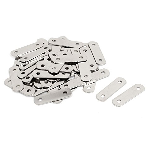 uxcell 34.5mm x 10mm Flat Fixing Joining Corner Brackets Mending Repair Plates 50PCS by uxcell