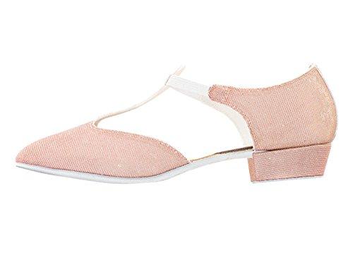 Cerco Teaching Glitter Katz Greek All Leather Glitter Salsa Sandal Jive Dance By Shoe Ladies Colours Ballroom Girls Peach Dancewear 1qwH46