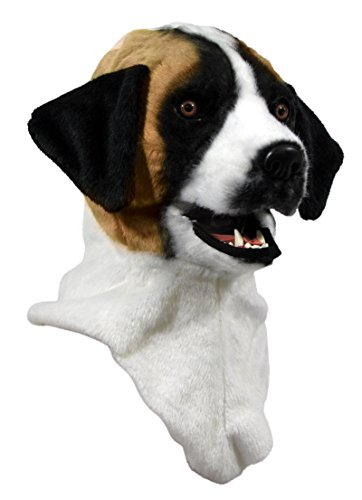 Forum Novelties Unisex-Adult's Moving Jaw Masks-st.Bernard, Multi, Standard -
