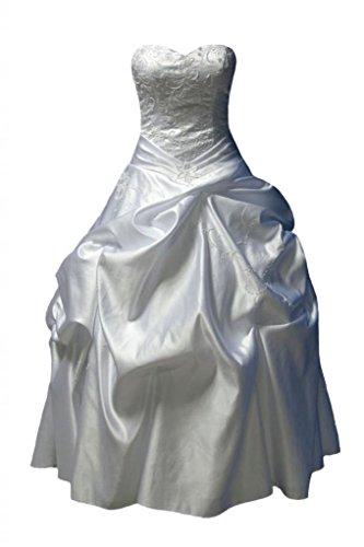Satin Taffeta Wedding Dress - 9
