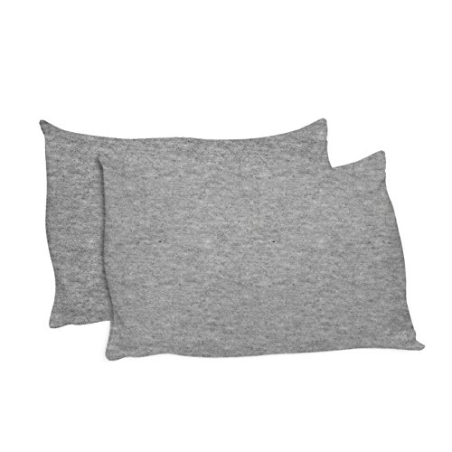 ersey Universal Pillowcase - One Size fits All Pillows, Made in USA, Heather Gray (Set of 2) (Jersey Knit Standard Pillow Case)