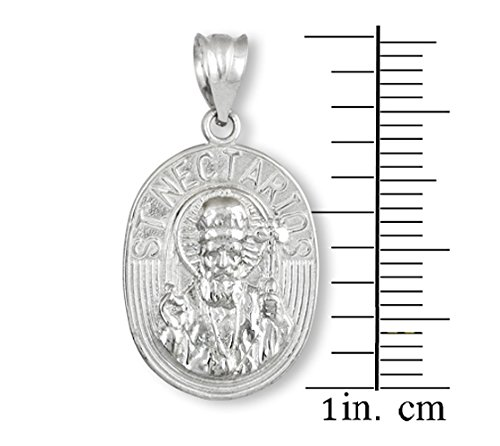 10 ct 471/1000 Or Blanc Sacreen Nektarios Medallion- Pendentif