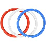 ZLR 3 Pack Silicone Sealing Rings for Instant Pot 3 Quart Color (Red, Clear and Blue) Fits IP-duo Mini 3qt, IP-LUX Mini 3 qt, IP-duo Plus 3Qt