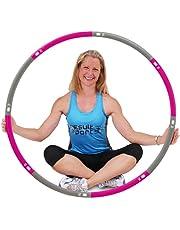 ResultSport Hula Hoop banden voor volwassenen, 1,2 kg, gewicht 100 cm breed, 8-delige afneembare, verzwaarde fitnessbanden, fitnessoefeningen, training