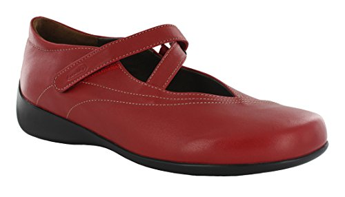 Wolky Donna 350 Passion Sandali In Pelle Rossa