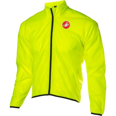 Castelli Squadra Long Jacket Yellow Fluo, XL - Men's
