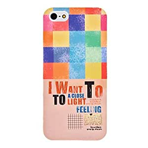 Colorful Lattices Pattern Hard Case for iPhone 5/5S