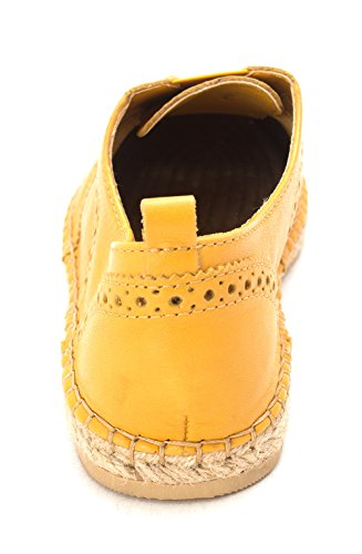 Suesam Flats Burnt Cole Espadrille Toe Yellow Haan Womens Closed 0EnEHwYFq