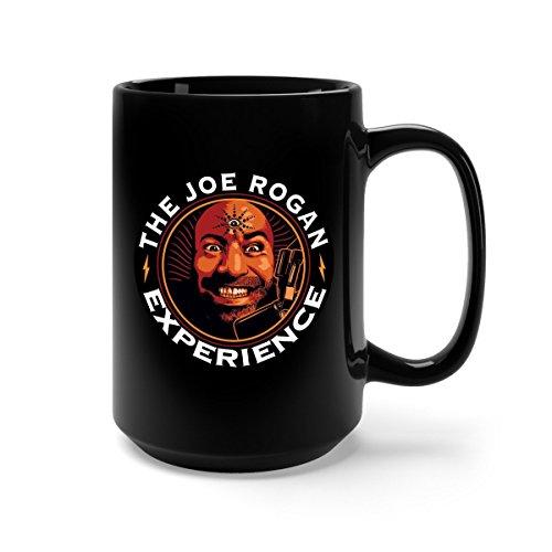 The Joe Rogan Experience Ceramic Coffee Mug Tea Cup (15oz, Black) (Best Of Joe Rogan)