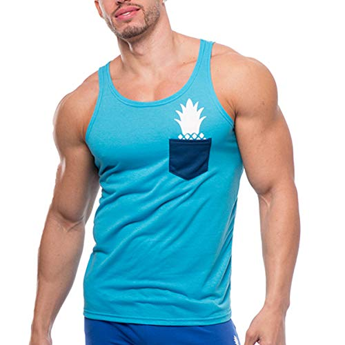 JJ Malibu Men's Short Sleeve Pocket T-Shirts Sky Blue