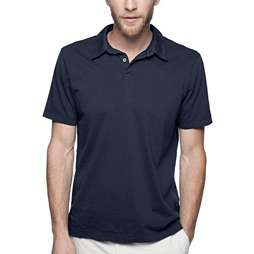 James Perse Men's Sueded Jersey Polo in White ()