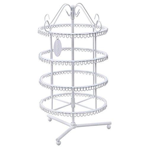 Songmics® Schmuckständer Ohrringständer B x H:18 x 35 cm Weiß JDS022W