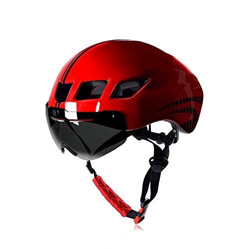 Anharluka Road/Mountain Bike Helmet with Detachable Magnetic Shield Visor Goggles Multi-sport Professional Cycling Helmet for Adult Sleek RB