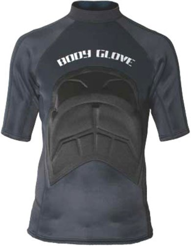 Body Glove Wetsuit Co Mens Chest Wedge and Paddle Aid Rashguard, Black, Small/Medium
