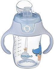 كوب بولي بروبيلين بفوهة سيليكون لتدريب الطفل على الشرب من بوتيتو KC638-Mint، 180 مل - لبني بيبي بلو