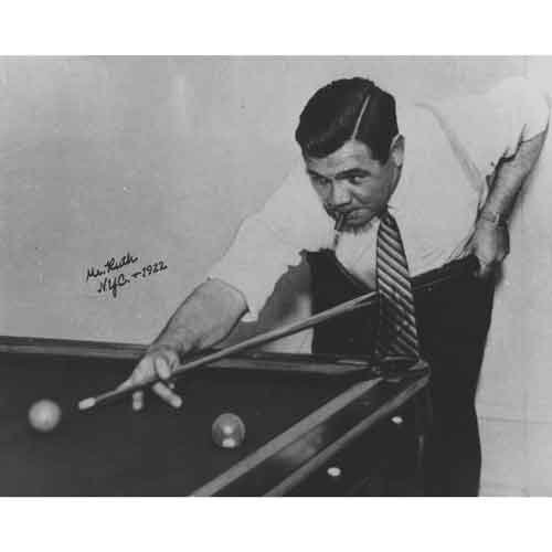 Quality digital print of a vintage photograph - Babe Ruth playing billiards NYC, 1922.. Black & White 8x10 inches - Matte Finish