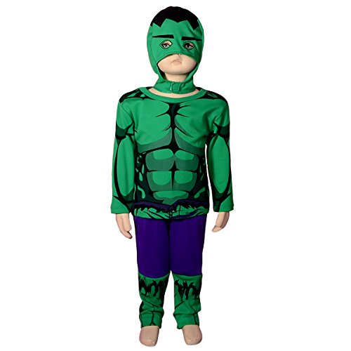 [Dressy Daisy Boys' Incredible Hulk Avenger Superhero Costume Halloween Party Size 4-5] (9 To 5 Costumes)