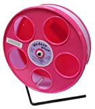 Pink Hamster Wheel, the Wodent Wheel 'Jr.' 8'' with Lavender Track