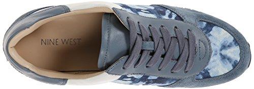Nove Sneaker Fashion West In Suede Grigio Blu / Multi