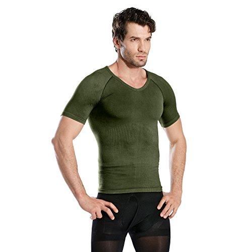 Hoter Mens Slim and Tight Super Soft Compression & Slimming Shaper V-Neck Compression Shirt by HÖTER (Image #5)