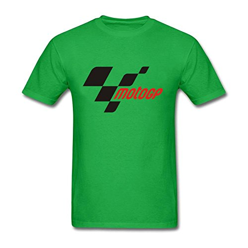 MotoGp Logo Round Neck Mens T-Shirt Kelly Green L