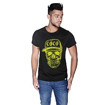 Creo Yellow Coco Skull T-Shirt For Men - M, Black