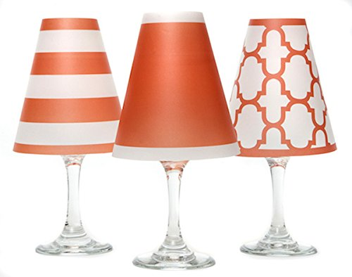 di Potter WS135 Nantucket Paper White Wine Glass Shade, Fiesta Orange (Pack of 6) by di Potter