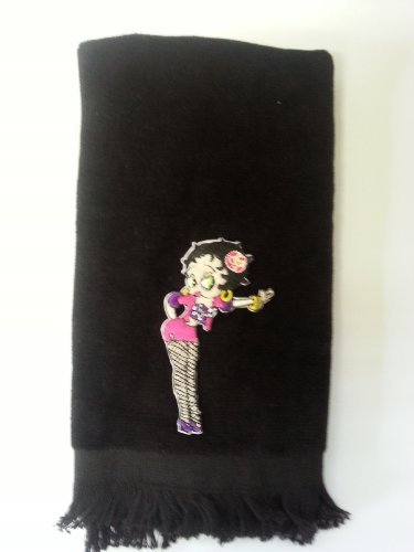 Betty Boop Fingertip Towel Vintage Type Applique Cute Black durable service