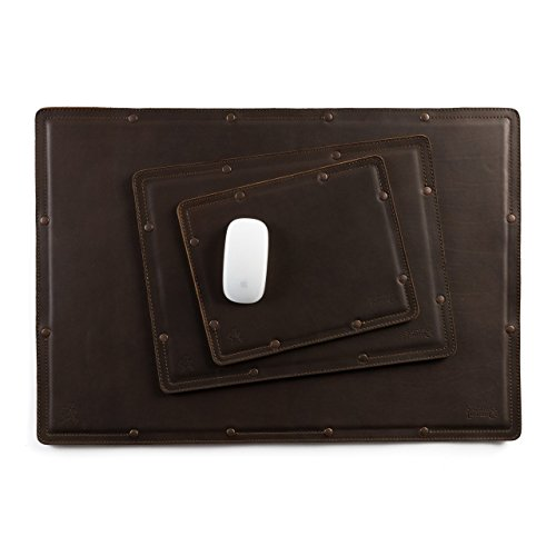 Saddleback Leather Desk Pad Set - Best 100% Full Grain Leather Mouse Pad, Laptop Pad and Desk Protector Pad with 100 Year Warranty by Saddleback Leather Co.