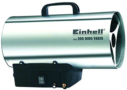 Einhell Heißluftgenerator HGG 200 Niro Vario (Nennwärmeleistung 20 kW, Heizmantel aus verzinketem Stahlblech, Piezozündung, Druckregler, Tragegriff)