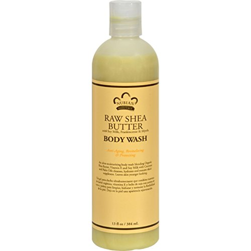Nubian Heritage Body Wash Raw Shea Butter - 13 fl oz