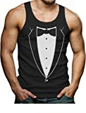 TeeStars - Printed Tuxedo With Bowtie Suit Funny Singlet