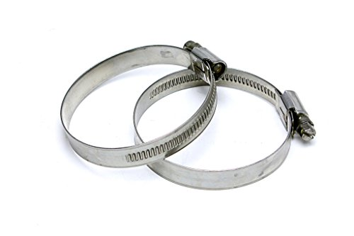 HPS EMSC-50-70x2 Stainless Steel Embossed Hose Clamps SAE 40, Effective Size: 2