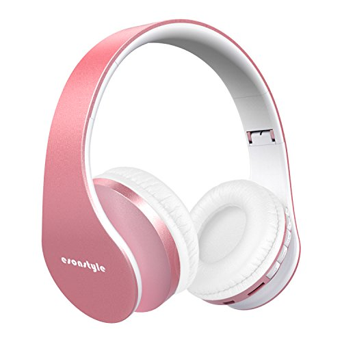 Bluetooth Headphones Over Ear, Esonstyle Hi-Fi Stereo Wireless Foldable Headset w/Built-in Mic and Wired Mode for iphone 8 iphone X and others