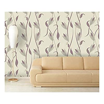 Large Wall Mural - Seamless Floral Pattern   Self-Adhesive Vinyl Wallpaper/Removable Modern Decorating Wall Art - 66