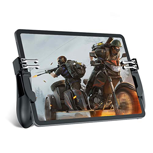 Mobile Game Controller for iPad/Tablets, EMISH Six Finger Game Joystick Handle Trigger Aim Button L1R1 Shooter Gamepad for PUBG/Fornite/Knives Out