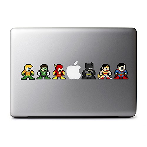 8-Bit Superhero League Decals for MacBook, iPad Mini, iPhone 5S, Samsung Galaxy S3 S4, Nexus, HTC One, Nokia Lumia, Sony