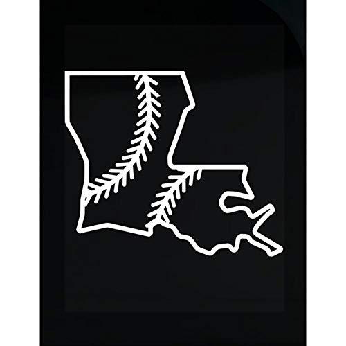 MESS Louisiana Baseball USA State Pride - Transparent Sticker