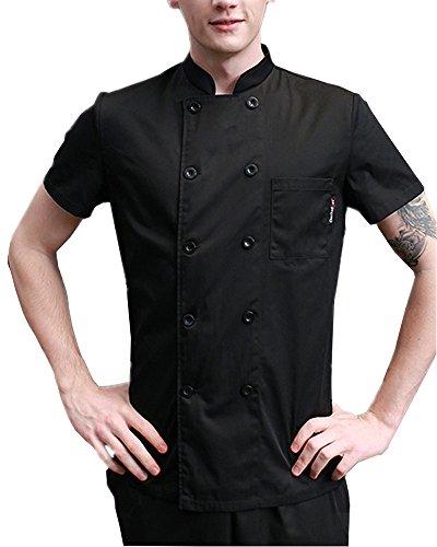 Boupiun Summer Short Sleeve Chef Coat Fashion Cool Unisex Chef ()