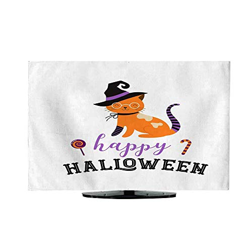 tv Cover Happy Halloween Cats in Monsters Costumes Halloween Party Vector Illustration Banner Elements -
