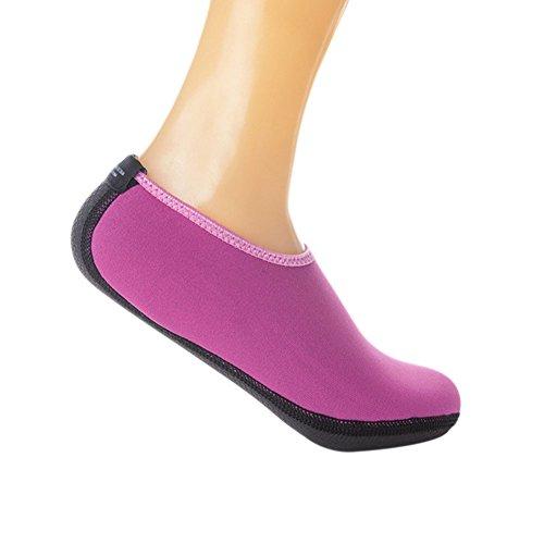 Meijunter Unisex Warm Non-slip Water Sport Shoes Socks Beach Socks Snorkeling Skin Shoes Red o0BWrXFG