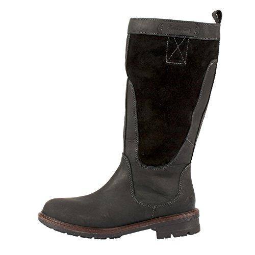 Leather Boots Black High Ladies Brakeburn Vintage q4tUp