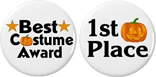 Set 2 Best Costume Award 1st Place Halloween Pumpkin 2.25