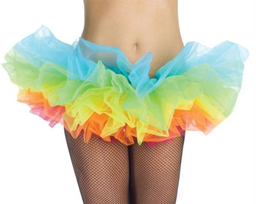 Unicorn Dance Costume (Underwraps Costumes Women's Rainbow Tutu, Rainbow, One Size)